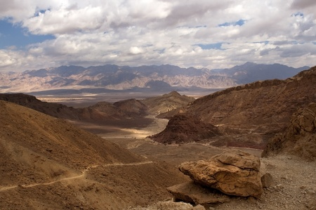 mountainous desert in the neighborhood of Eilat  Israel photo