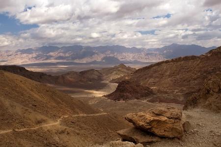 mountainous desert in the neighborhood of Eilat  Israel Stock Photo