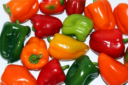 different sweet peppers isolated on the white background Stock Photo - 13677433