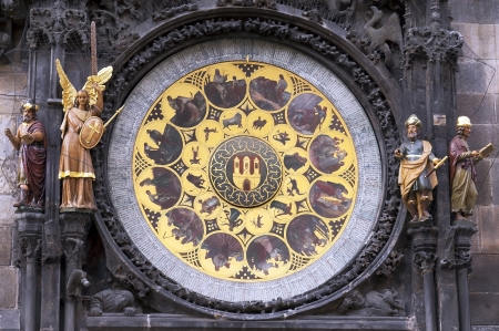 Historical astronomical clock in Prague ,Czech republic photo