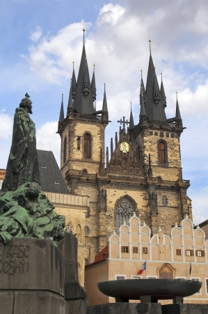 medieval beautiful Tyn Church of Our Lady, 12 century, Prague, Czech Republic Stock Photo - 13858506