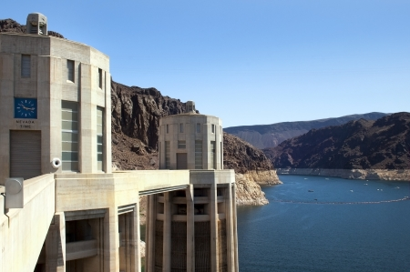 Hoover Dam (Boulder Dam), the dam on the Colorado River in Black Canyon, on the border of Arizona and Nevada, USA Stock Photo - 13929526