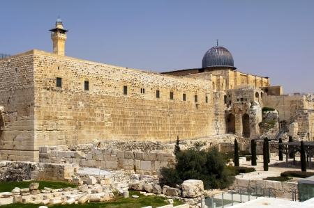 archaeological park near the walls of Jerusalem , Israel photo