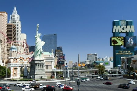 Las Vegas, Nevada - City of luck, the urban landscape at the crossroads of MGM Grand Hotel & Casino Editorial