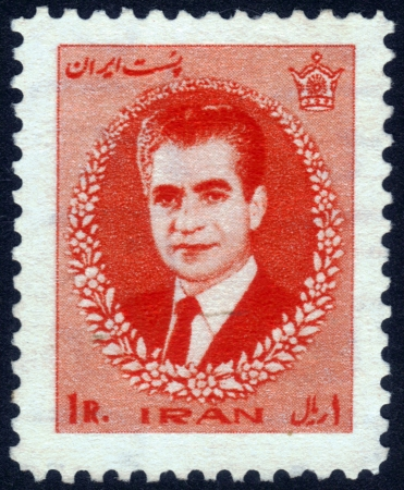 IRAN - CIRCA 1972: a stamp printed in Iran showing Mohammad Reza Pahlavi ( Shahanshah and Aryamehr of Iran) , circa 1972 Stock Photo - 14141477