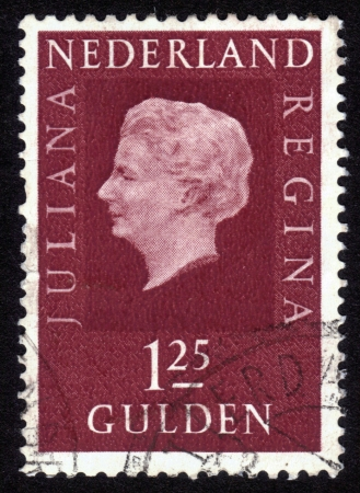 NETHERLANDS - CIRCA 1969: Stamp printed in the Holland shows  the queen Juliana, circa 1969 Stock Photo - 14147890