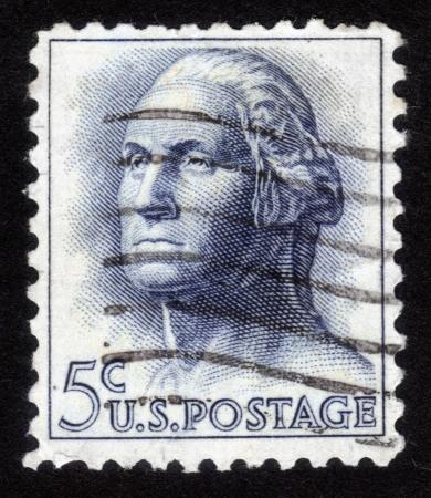 USA - CIRCA 1962: A stamp printed in USA shows image portrait George Washington (1732-1799), the first president of USA, circa 1962 Stock Photo - 14147887