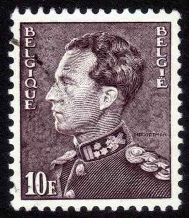 BELGIUM - CIRCA 1951: A stamp printed in Belgium, shows portrait of Leopold III King of Belgium, circa 1951 Stock Photo - 14242381