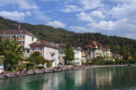 Small town of Montreux on Lake Geneva. Switzerland Stock Photo - 14264303