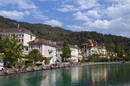 Small town of Montreux on Lake Geneva. Switzerland Stock Photo - 14264303
