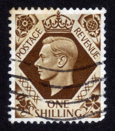 UNITED KINGDOM - CIRCA 1947: A stamp printed in United Kingdom showing Portrait of King George VI, circa  1947 Stock Photo - 14326658