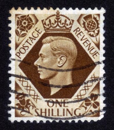 UNITED KINGDOM - CIRCA 1947: A stamp printed in United Kingdom showing Portrait of King George VI, circa  1947 Stock Photo - 14326658