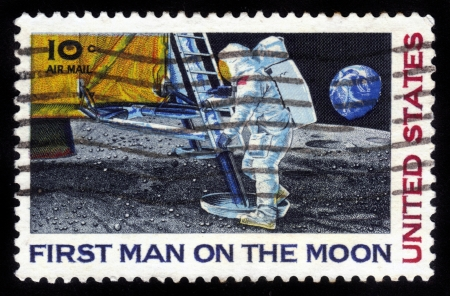First Man on the Moon Stock Photo - 14332596