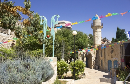 house of prayer: Old Turkish mosque in Safed, Israel