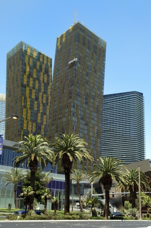 LAS VEGAS - MAY 29: Mandarin Oriental Hotel & Casino on May 29, 2012 in Las Vegas, is a luxury 5 star hotel with 225 residences & 392 rooms located within CityCenter Editorial