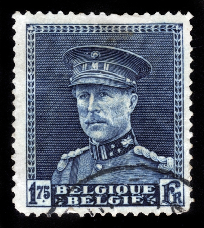 BELGIUM-CIRCA 1930 A stamp printed in BELGIUM shows image of the Albert I   1875 -  1934  reigned as King of the Belgians from 1909 until 1934, circa 1930  Stock Photo - 14616527
