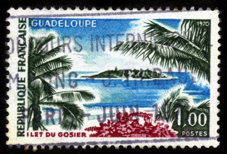 FRANCE - CIRCA 1970: stamp printed by France, shows Gosier Islet, Guadeloupe, circa 1970 Stock Photo - 14616568