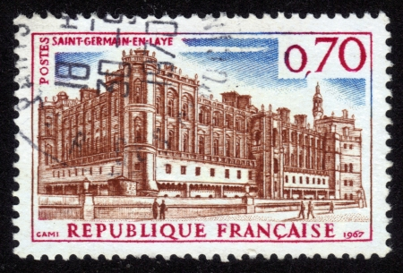 FRANCE - CIRCA 1967: A stamp printed in France shows Saint-Germain-en Laye , country residence of the kings of France , France, circa 1967 Stock Photo - 14616570