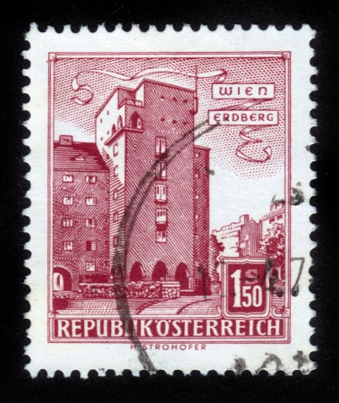 AUSTRIA - CIRCA 1960: A stamp printed in Austria shows image of the Erdberg area of Vienna, series, circa 1960 Stock Photo - 14720199