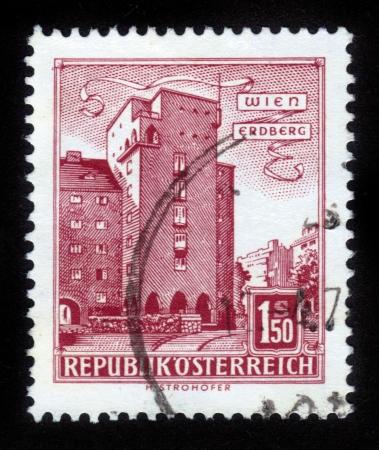 AUSTRIA - CIRCA 1960: A stamp printed in Austria shows image of the Erdberg area of Vienna, series, circa 1960 Stock Photo - 14720199