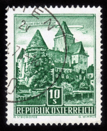 AUSTRIA - CIRCA 1957  A stamp printed in Austria shows Heidenreichstein Castle, circa 1957 Stock Photo - 14794656