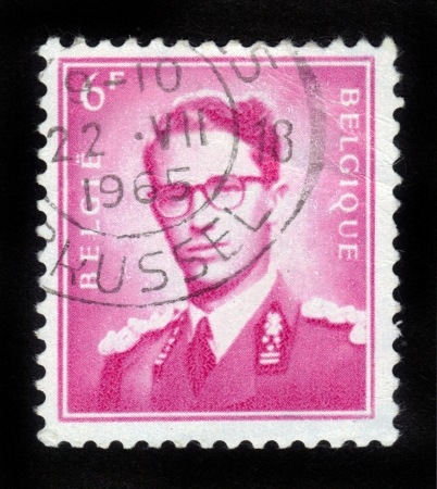 BELGIUM - CIRCA 1970  A stamp printed in Belgium shows King Baudouin   1930-1993  ,  Marchant  , circa 1970   Stock Photo - 14857971
