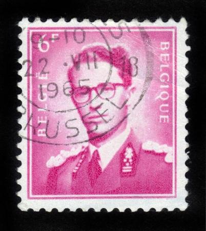 baudouin: BELGIUM - CIRCA 1970  A stamp printed in Belgium shows King Baudouin   1930-1993  ,  Marchant  , circa 1970   Editorial