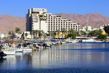 arava: Eilat, Israel - April 14  modern hotel King Solomon in popular resort - Eilat of Israel on April 14, 2012 Eilat, Israel  King Solomon Palace Hotel Eilat offers 420 apartments and suites belongs Isrotel