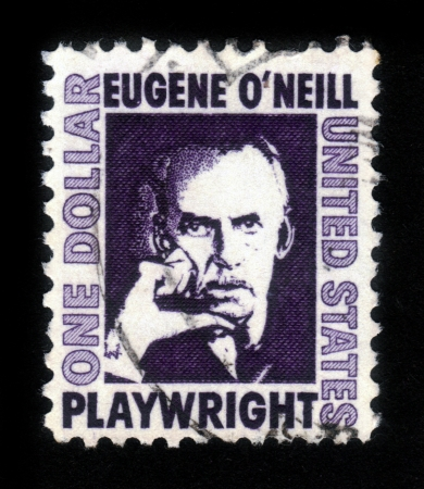 UNITED STATES OF AMERICA - CIRCA 1973  a stamp printed in the United States of America shows  portrait Eugene Gladstone O Neill , American playwright and Nobel laureate in Literature, circa 1973 Stock Photo - 15132754