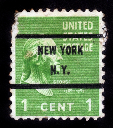 USA - CIRCA 1938  A stamp printed in USA shows Portrait President George Washington circa 1938 Stock Photo - 15132755