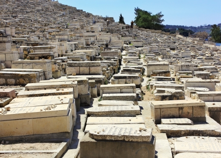 ancient Jewish cemetery on the Mount of Olives in Jerusalem, Israel Stock Photo - 15146674