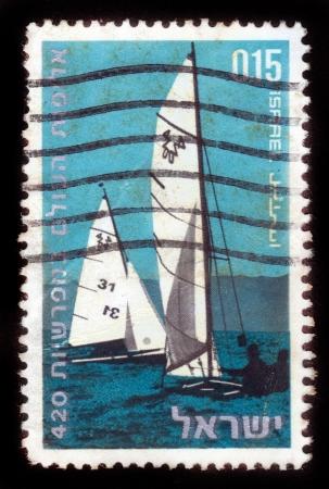 ISRAEL - CIRCA 1970:  A stamp printed in Israel, series
