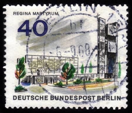 Deutschland Circa 1957 Eine Briefmarke In Deutschland West