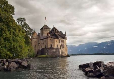 Chateau de Chillon , lake Geneva , Montreux , Switzerland
