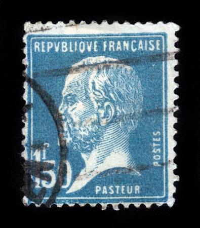 FRANCE - CIRCA 1950: stamp printed by France, shows Portrait of Louis Pasteur, circa 1950
