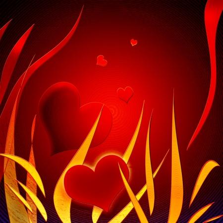 Stylish red heart Stock Photo - 15855865