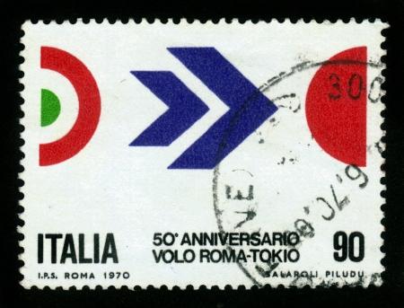 50th Anniversary of Arturo Ferrarin Stock Photo - 16126278