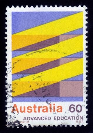 AUSTRALIA - CIRCA 1974  A stamp printed in Australia shows Advanced Education in Australia, circa 1974