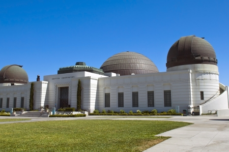 Griffith Observatory at the top of the mountain in Griffith Park in Los Angeles, USA Stock Photo - 16233015