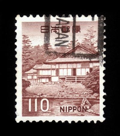 JAPAN - CIRCA 1966  A stamp printed in Japan shows Katsura Rikyu, Kyoto, circa 1966 Stock Photo - 16233016