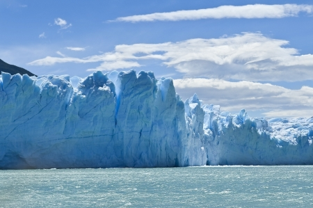 blue ice mountains of the magnificent Perito Moreno glacier, Patagonia, Argentina photo