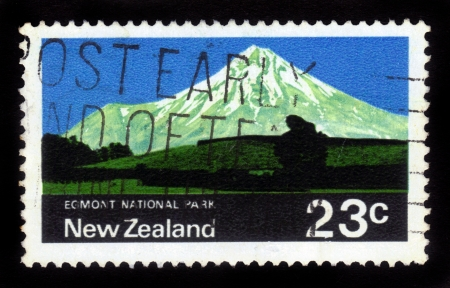 NEW ZEALAND - CIRCA 1964  A stamp printed in New Zealand show image of Egmont National Park, series, circa 1964 Stock Photo - 16348391
