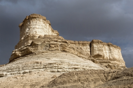 unusual erosion of mountains , fragment of the Judean Desert near The Dead Sea, Israel photo