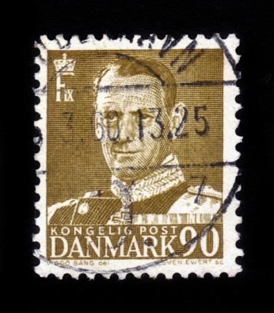 DENMARK-CIRCA 1959  A stamp printed in Denmark shows image of Frederick IX  Christian Frederik Franz Michael Carl Valdemar Georg , King of Denmark , circa 1959 Stock Photo - 16585809