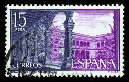 SPAIN - CIRCA 1970  A stamp printed in Spain shows Monastery of Saint  Thomas in Avila, circa 1970  Stock Photo - 16585896