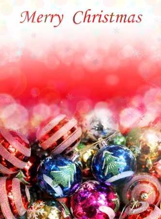 Beautiful greeting card with a Merry Christmas Stock Photo - 16691466