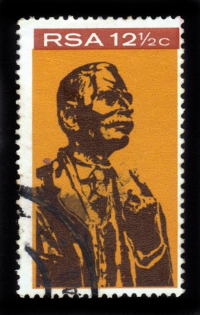 REPUBLIC OF SOUTH AFRICA - CIRCA 1968  A stamp printed in Republic of South Africa shows James Barry Munnick Hertzog, politician and military leader, a leader of the Afrikaner, circa 1968 Stock Photo - 16680136