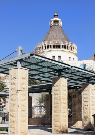 The Basilica of the Annunciation in Nazareth, Israel  This church was built on the site where according to Tradition was the home of the Virgin Mary Stock Photo - 16880368
