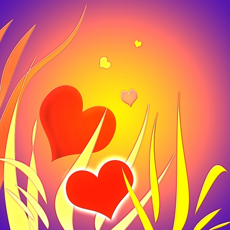 Stylish red heart with decorative elements on a gradient background as the theme for Valentine s Day Stock Photo - 16878583
