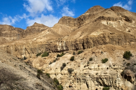 beautiful landscape in the Judean Hills, in a neighborhood the Dead Sea, Israel photo